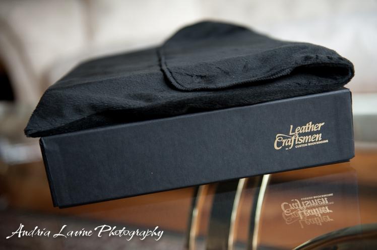 Andria Lavine Photography_Atlanta Wedding Photography_Leather Craftsmen Handmade Custom Wedding Album 1 photo